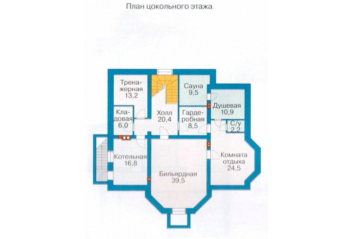 План N3 проекта кирпичного дома АСД-1082