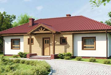 Проект дома из блоков АСД-1891