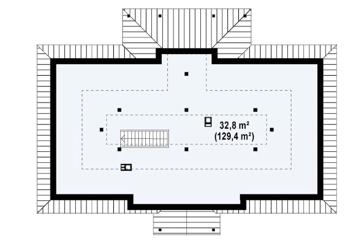 План N2 проекта дома из блоков АСД-1891