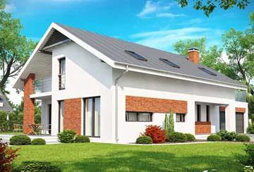 Проект дома из блоков АСД-1804