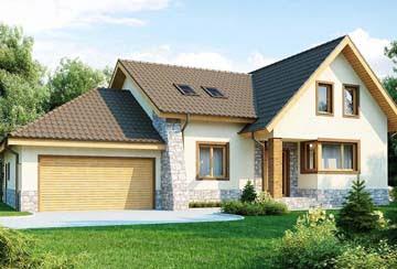 Проект дома из блоков АСД-1805