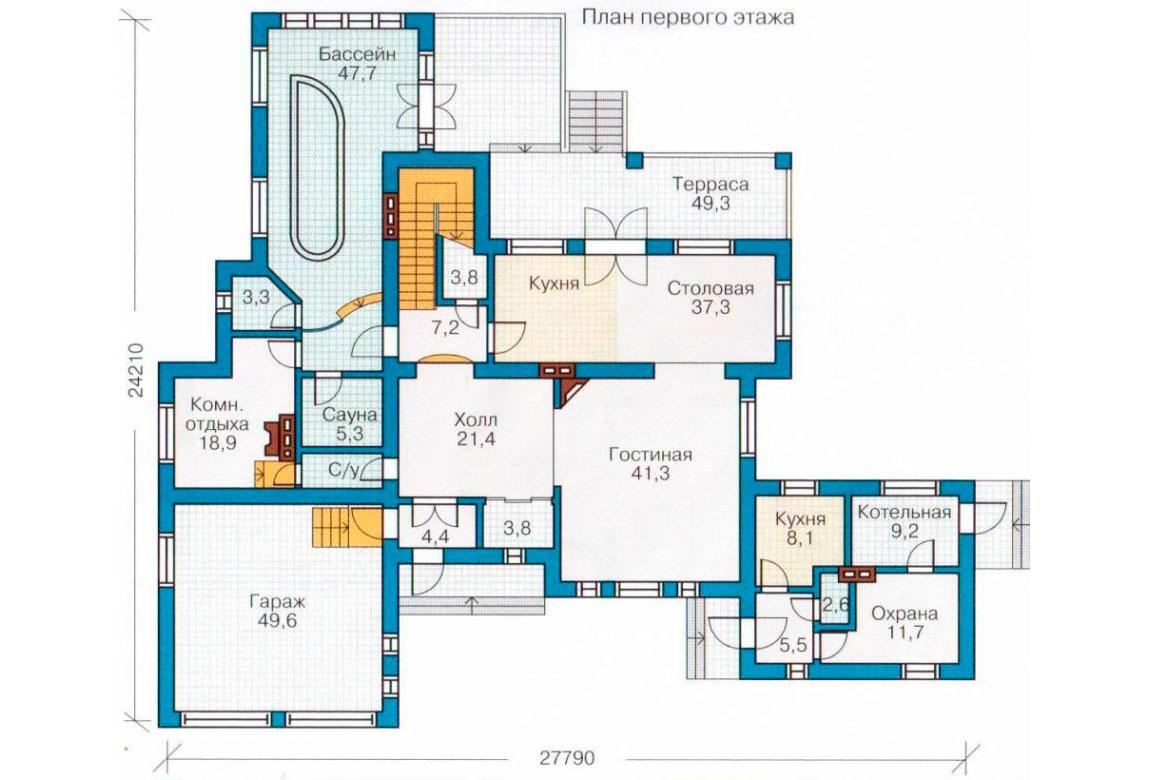 План N1 проекта кирпичного дома АСД-1083