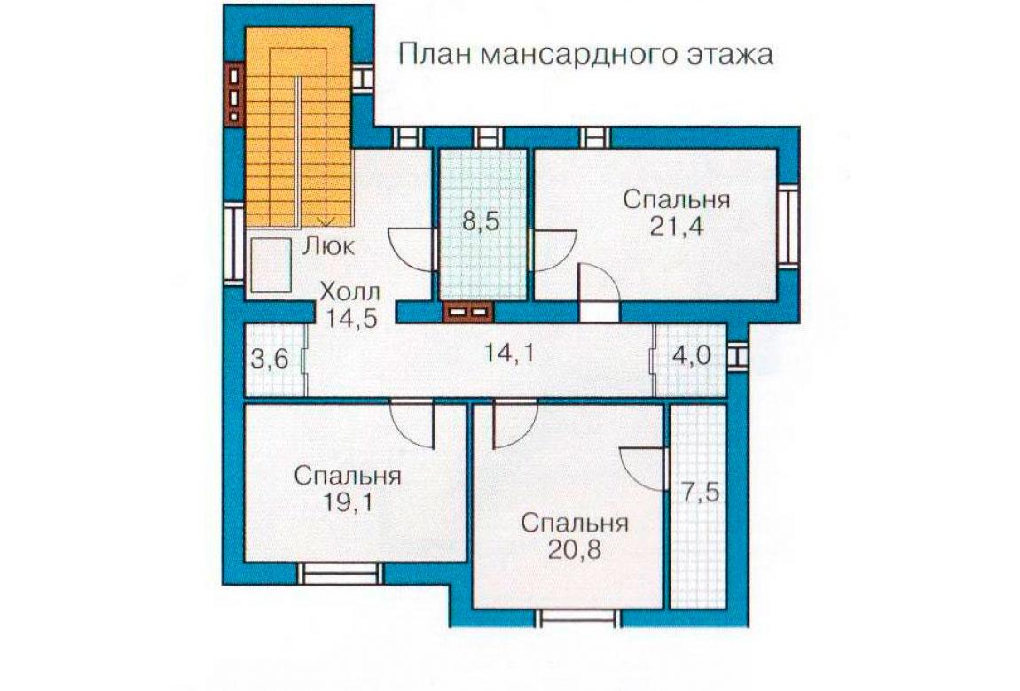 План N2 проекта кирпичного дома АСД-1083