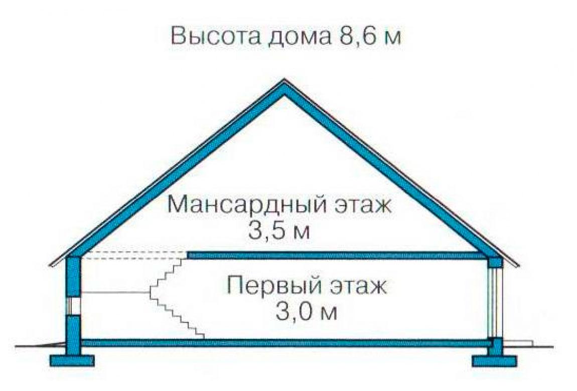 План N3 проекта кирпичного дома АСД-1083