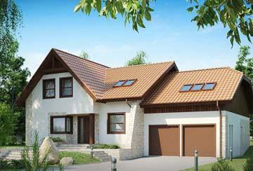 Проект дома из блоков АСД-1810