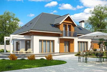 Проект дома из блоков АСД-1815