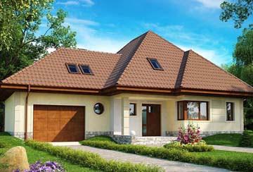 Проект дома из блоков АСД-1816
