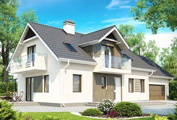 Проект дома из блоков АСД-1818