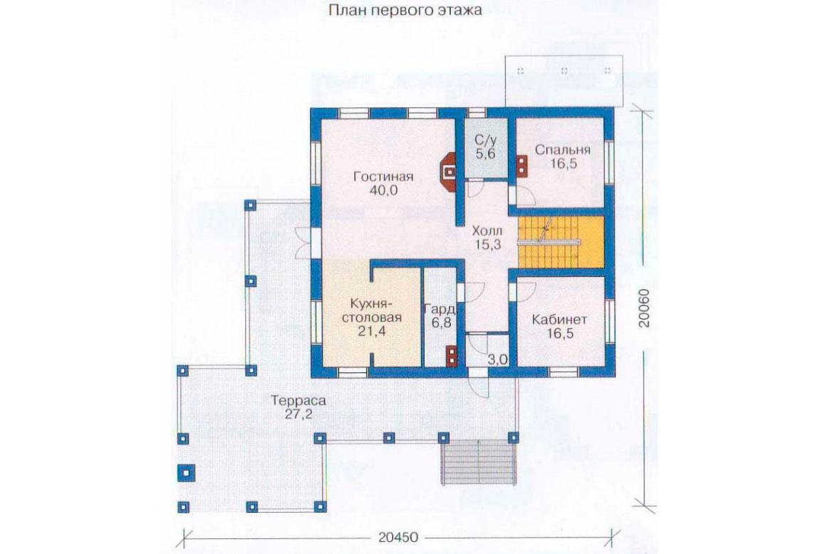 План N2 проекта ВИП дома АСД-1084