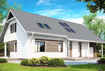 Проект дома из блоков АСД-1819