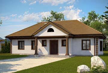 Проект дома из блоков АСД-1820