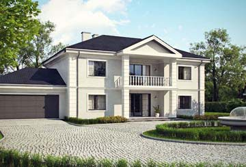 Проект дома из блоков АСД-1823