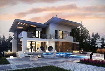 Проект дома из блоков АСД-1825
