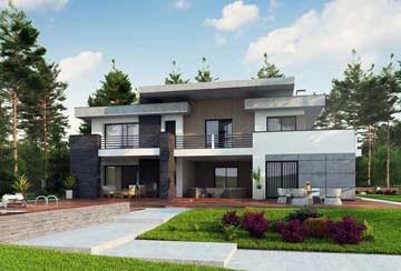 Проект дома из блоков АСД-1828