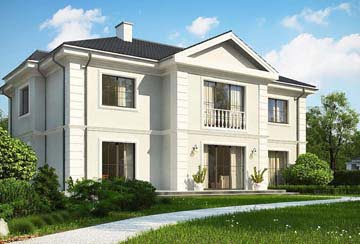 Проект дома из блоков АСД-1829