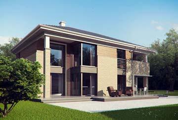 Проект дома из блоков АСД-1830