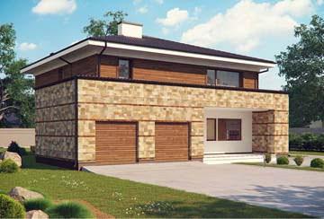 Проект дома из блоков АСД-1832