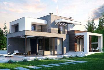 Проект дома из блоков АСД-1835