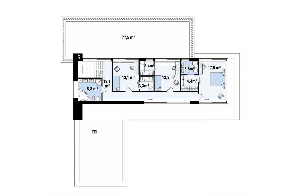 План N2 проекта дома из блоков АСД-1838