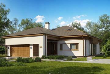 Проект дома из блоков АСД-1842