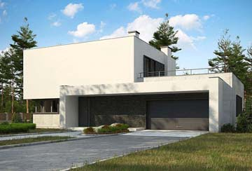 Проект дома из блоков АСД-1845
