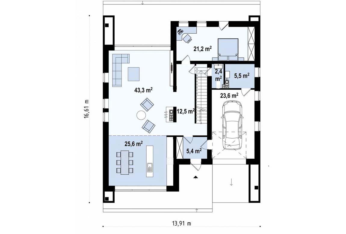 План N1 проекта ВИП дома АСД-1846