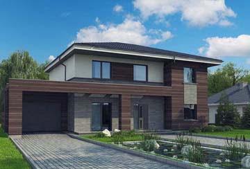 Проект дома из блоков АСД-1847