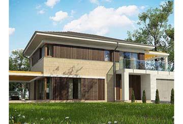 Проект дома из блоков АСД-1848