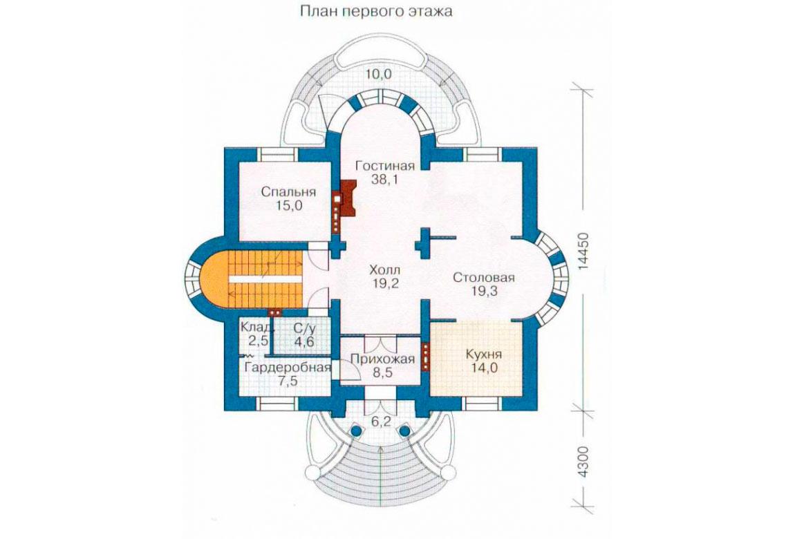 План N2 проекта ВИП дома АСД-1087