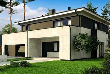 Проект дома из блоков АСД-1854