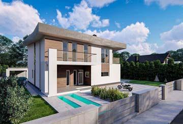 Проект дома из блоков АСД-1856