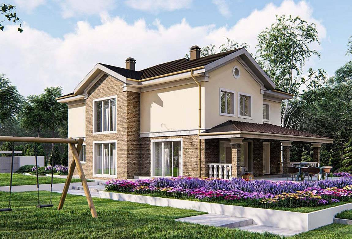 Проект дома из блоков АСД-1857 (uploads/gss/goods/878/big_3.jpg).