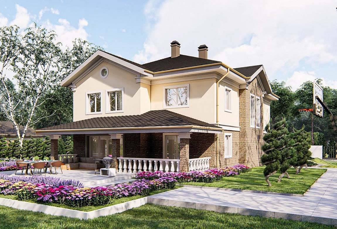 Проект дома из блоков АСД-1857 (uploads/gss/goods/878/big_4.jpg).