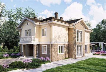 Проект дома из блоков АСД-1857