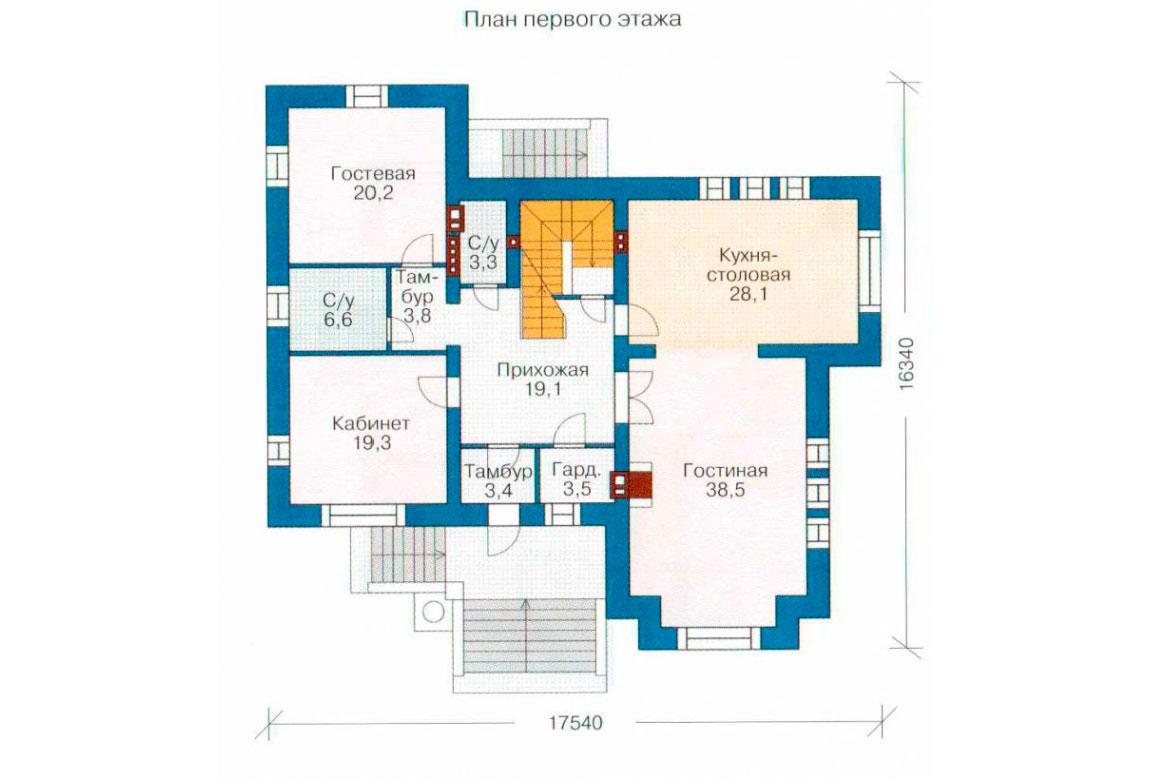 План N2 проекта ВИП дома АСД-1088