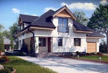 Проект дома из блоков АСД-1859