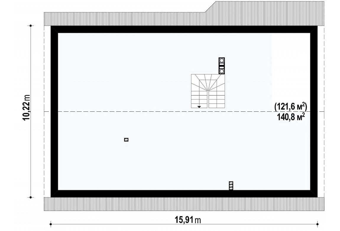 План N2 проекта дома из блоков АСД-1860