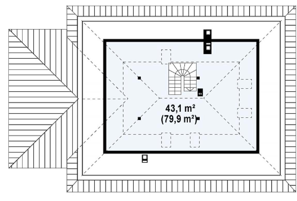 План N2 проекта дома из блоков АСД-1861