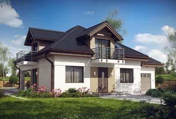 Проект дома из блоков АСД-1862