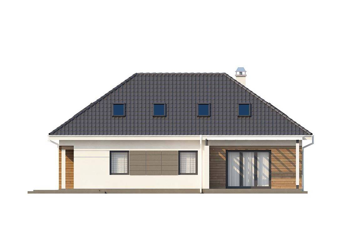 Проект дома из блоков АСД-1863 (uploads/gss/goods/884/big_4.jpg).