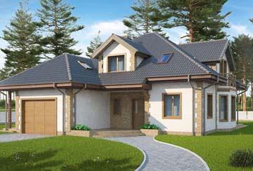 Проект дома из блоков АСД-1864