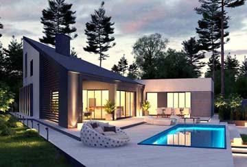 Проект дома из блоков АСД-1870