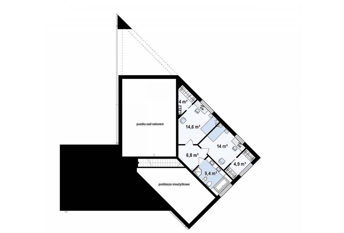 План N2 проекта дома из блоков АСД-1870