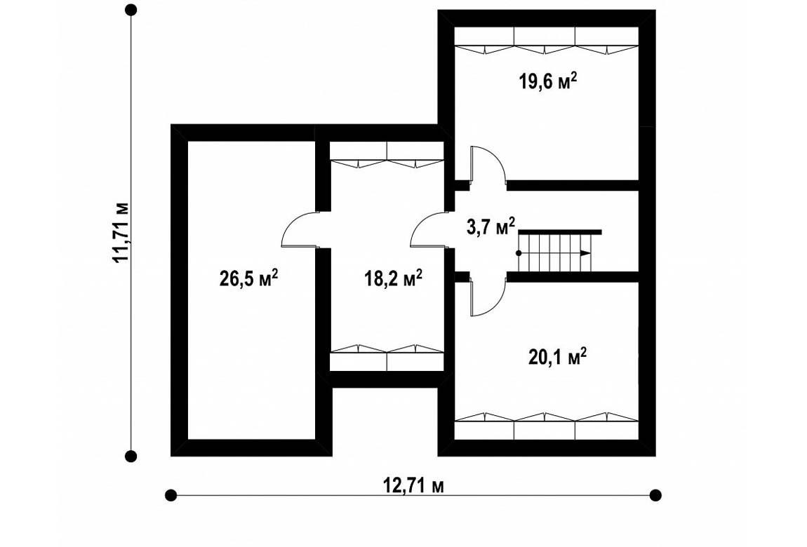 План N3 проекта дома из блоков АСД-1892
