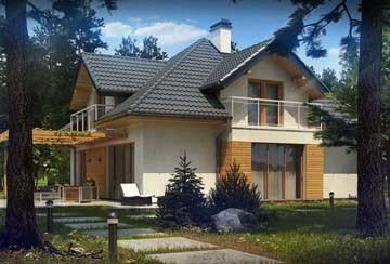 Проект дома из блоков АСД-1893