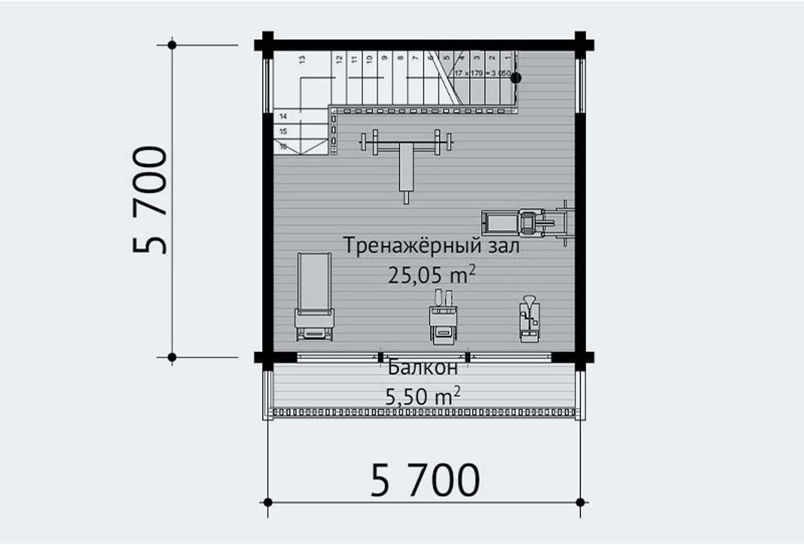 План N2 проекта бани АСД-1895