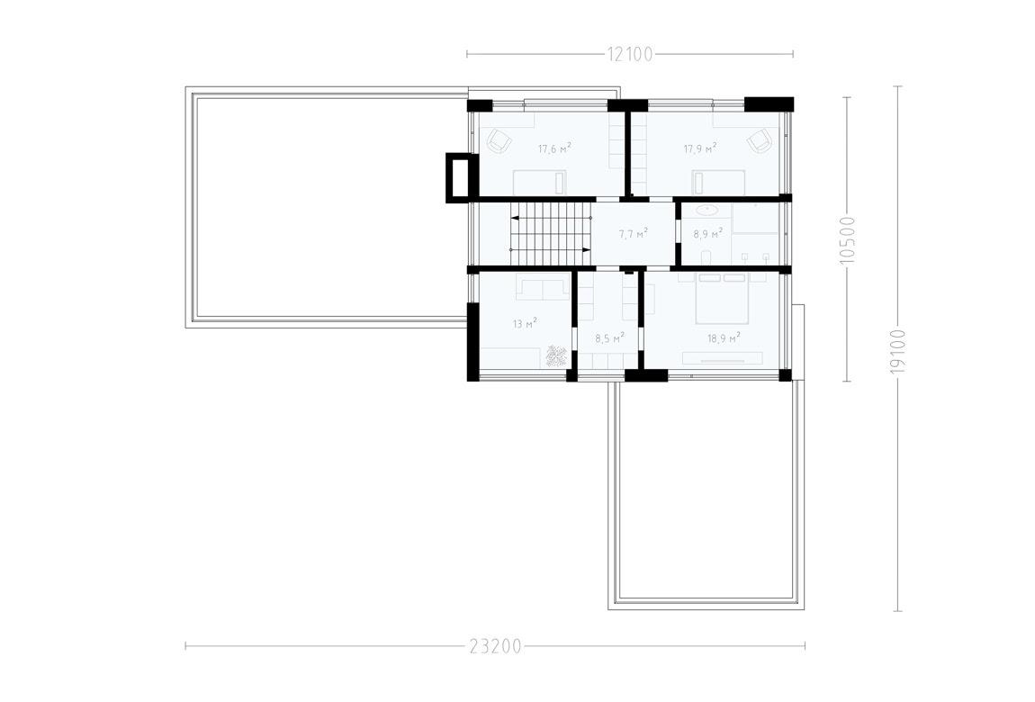 План N2 проекта ВИП дома АСД-1896