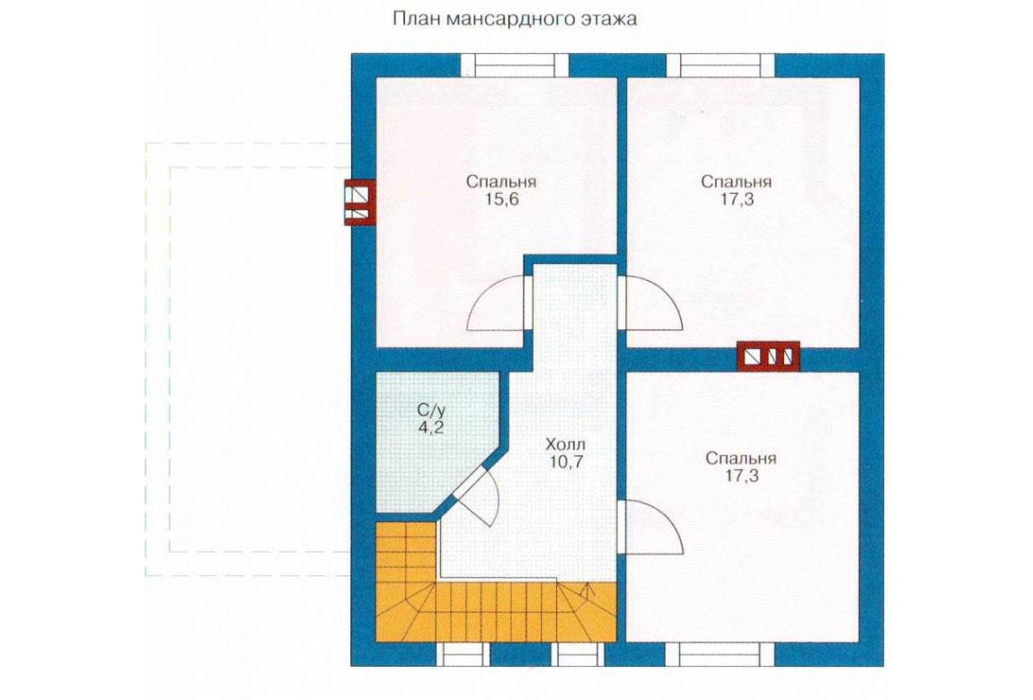 План N2 проекта кирпичного дома АСД-1009