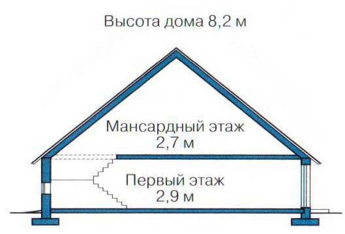 План N3 проекта кирпичного дома АСД-1009
