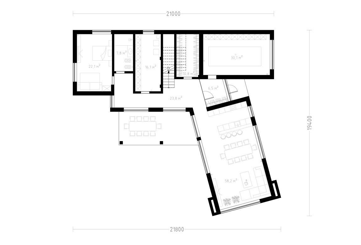 План N1 проекта ВИП дома АСД-1899